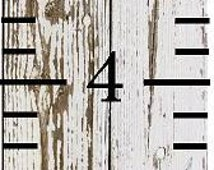 Personalized Custom Name Ruler Inspired Growth Chart (Double Lines for 2 Children) - Shower Gift, First Birthday, Christmas, Family farming