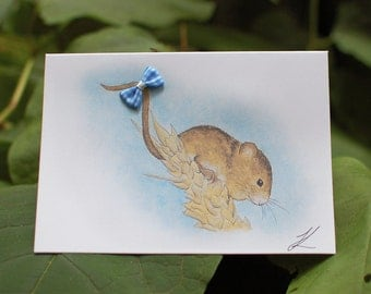 Mouse Greeting Card, Handmade