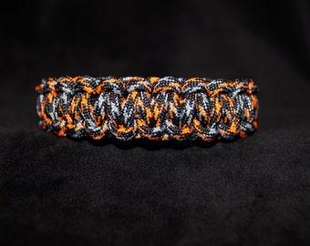 Paracord Bracelet Color is Ninja warrion Neon Orange