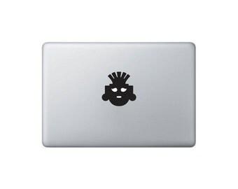 Creative MacBook Laptop decal - sticker - Aztec mask- macbook sticker - Apple decal -  Macbook Pro Laptop Skin