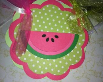 Watermelon Happy Birthday banner