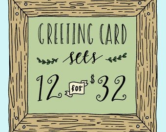 Choose Any 12 Cards, Greeting Card Set, Greeting Card Sets, Bulk Cards, Pack of Cards, Mix & Match Cards