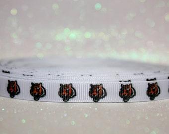 """3/8"""" Cincinnati Bengals Ribbon - Bengals - NFL - Football Ribbon"""