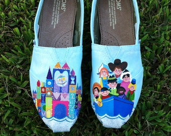 Disney It's a Small World Mary Blair Inspired Handpainted Toms