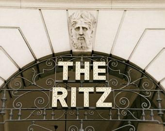 London Photography, The Ritz Hotel, Architecture, Fine Art Print, brown, gold, cream, Home Decor, Wall Art