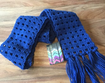 Skinny Bright Navy Scarf