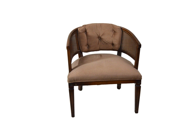 Barrel Chair Vintage Barrel Cane Back Chair Retro Chair