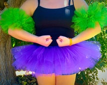 "Marvel Hulk Tutu and Muscles - Hulk Costume - Adult Tutu - Teen Tutu - Kids Tutu - Halloween Costume - Superhero Cosplay - 8"" Tutu"