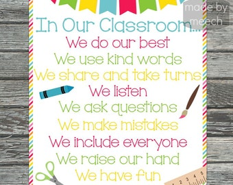 In Our Classroom 16x20 Poster