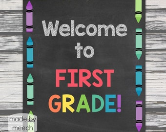 Welcome to First Grade Poster- Instant Download