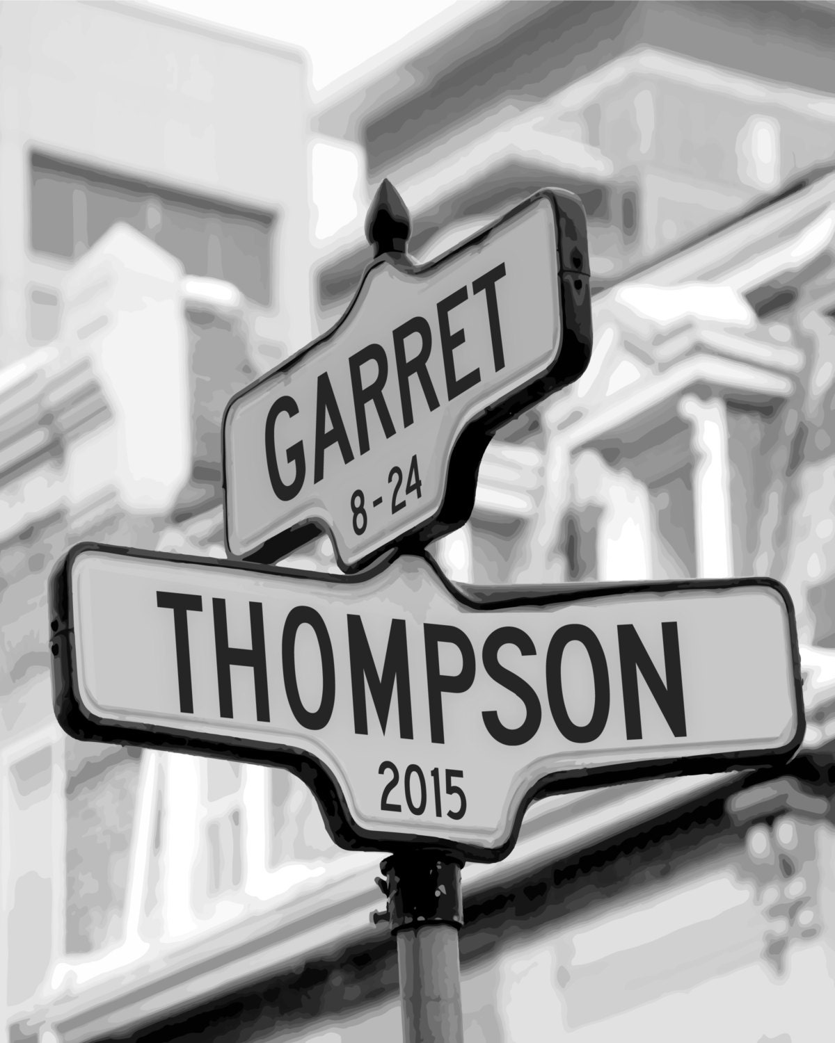 Personalized Intersection Street Sign Gift Names Or Address