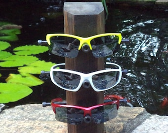 Eyewear- Sunglass Display- Rustic finish- Holds three of your favorite pair of glasses