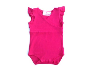 Hot pink Baby girl bodysuit - 0-18 months clothing babies - baby shower gift idea