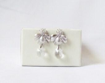 bumble bee earrings honey bee earrings silver bee jewelry