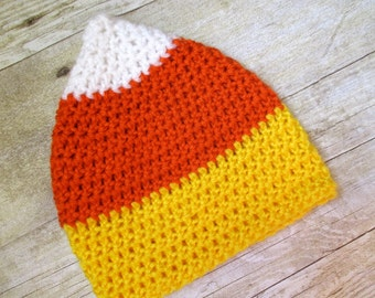 Baby Candy Corn Hat, Fall Autumn Hat, Halloween Hat, Photograpy Prop, Baby