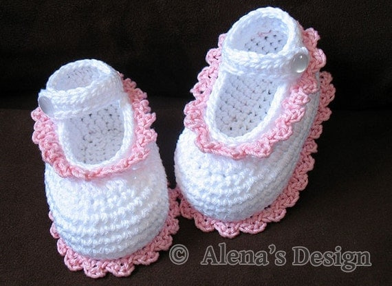 Free Crochet Pattern For Baby Shoe Sole : Crochet Shoe Pattern Crochet Pattern 077 Crochet Baby