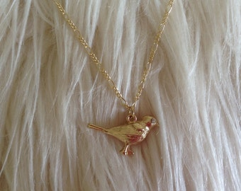 Gold Bird, Gold Bird Necklace, Gold Necklace, Bird Necklace