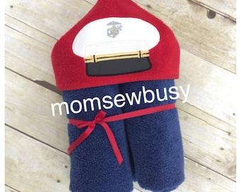 USMC hooded towel