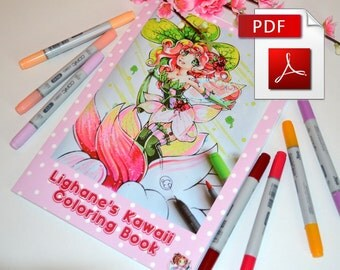 Lighane's Kawaii Coloring Book (PDF-Edition)