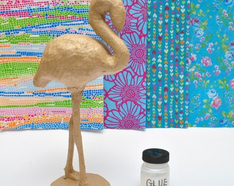 Decopatch Flo the Flamingo Kit,  Make your own Flamingo from our Kit, Flamingo Craft Kit, includes all the materials you need. Gift Wrapped