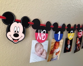 Mickey Mouse Clubhouse Banner, Mickey Mouse Photo Banner, Mickey Mouse Party, Mickey Mouse Birthday, Mickey Mouse