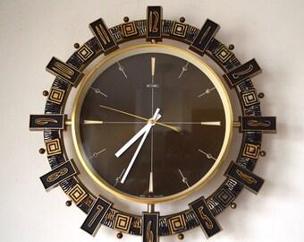 70's Brutalist Mid Century original Metamec wall clock