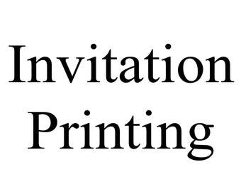 Printed Invitation