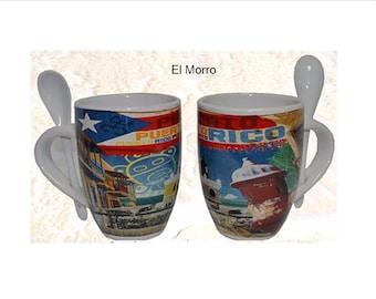 Puerto Rico Mug Cup/Puerto Rico Souvenirs/Coffee Mug with (El  Morro Design)
