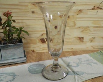 Blown glass cup etsy - Vase ancien en verre ...