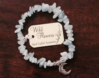 Aqua Marine Moon Bracelet