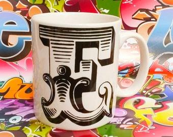 Vintage initial mug