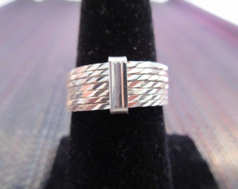 Sterling Silver Seven Band Ring - 8
