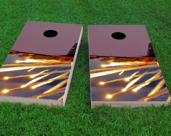 AC130 Flares 2x4 Cornhole Board Set with bags | Custom Corn Hole | Bag Toss | Corn Toss | Bean Bag Toss