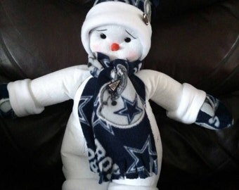 Darling Handmade Dallas Cowboys Snowman
