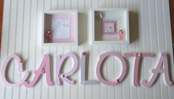 Art culos similares a letras para decoracion de cuartos de ni as bebes nombres de ni as - Letras bebe decoracion ...