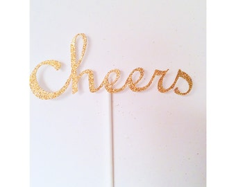 Cheers Centerpieces, Cheers to 30 years Centerpiece, 2018 Table Decor, New Years Eve Party Centerpieces- Set of 4 centerpieces