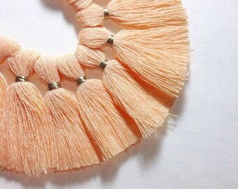 Peach with Gold Tassel for Jewelry Making - Necklaces, Bracelets, or Earrings! 2 Inch Size