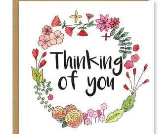 Thinking of you card | Sympathy card | Get well soon card