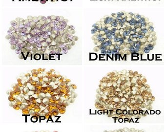 20pcs Swarovski PP24 Multi Colors 3.2mm Round Xilion Crystal 1088 chaton