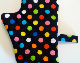 Colorful Dots Oven Mit