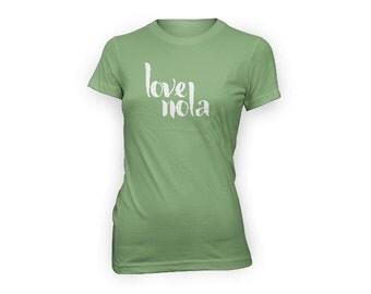 Love NOLA T Shirt | New Orleans T Shirt | Women's NOLA TShirt | Love New Orleans Shirt