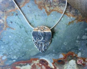 Seahorse Fine Silver Pendant