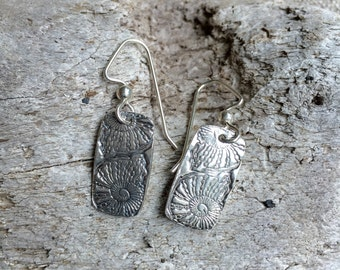 Nautilus Fine Silver Earrings