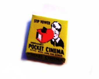 Pocket Cinema Box Dolls House Miniature