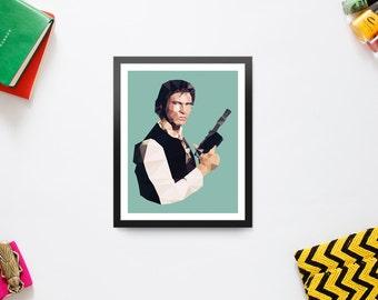Low Poly Han Solo / Star Wars (Digital Download)