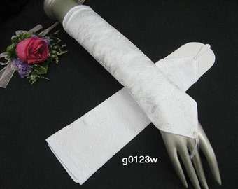 """Finger-less bride wedding gloves ;13"""" length elegance embroidery fabric bridesmaid bridal gloves ; Party occasion woman accessories, 5i"""