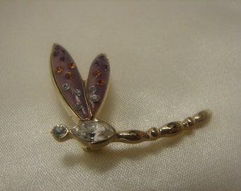 Rhinestone Dragonfly Pin--Cute!!! 436