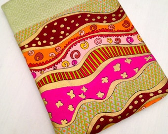 "iPad air padded sleeve/ iPad air 2 cover /   Made in Maine / ""funky"" fabric"