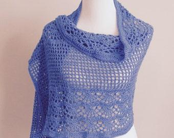 Vintage Violet Shawl wrap crochet shawl