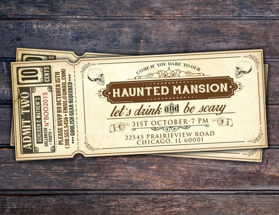 items similar to halloween invite  halloween party  spooky